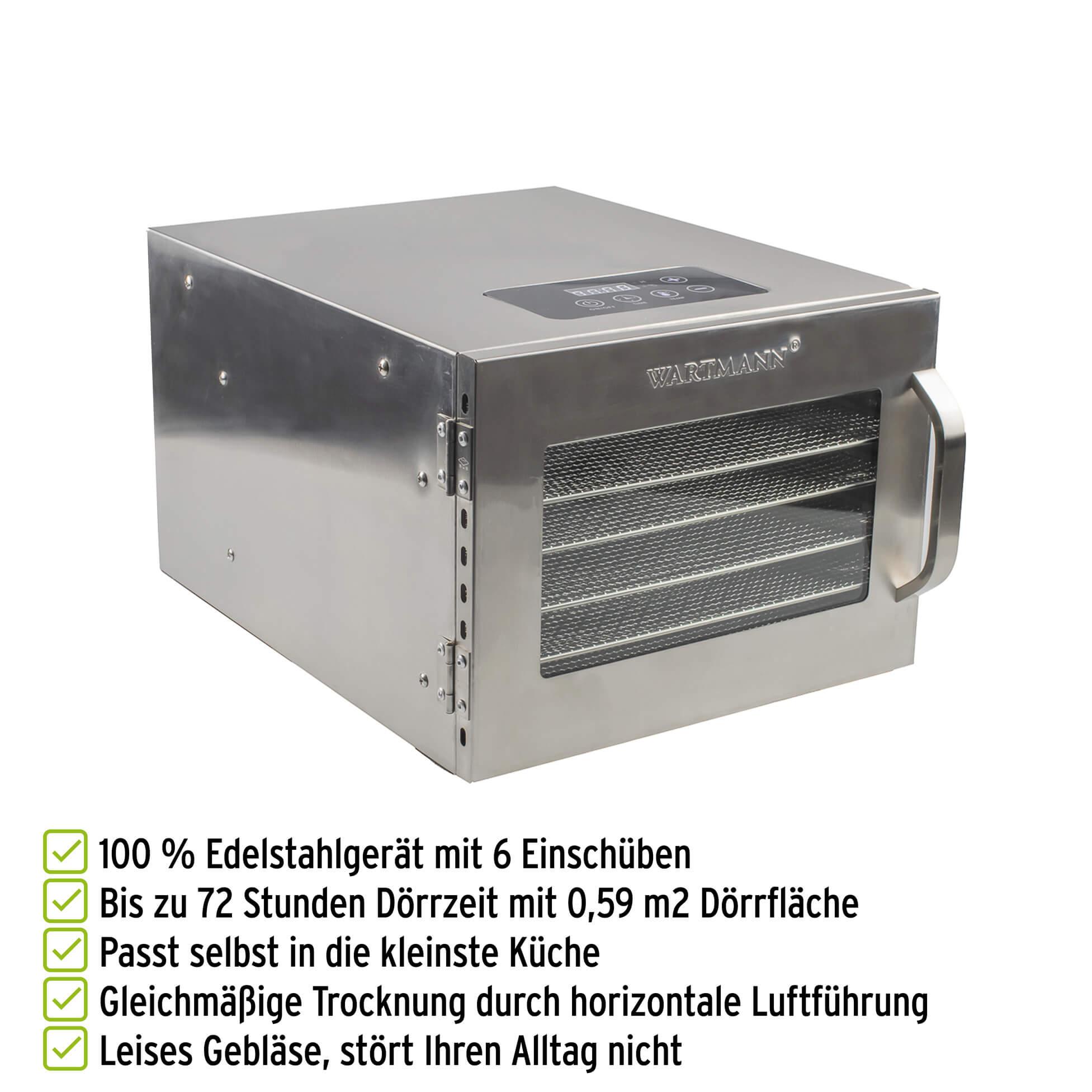 Wartmann Edelstahl-Dörrautomat WM-2006 DH