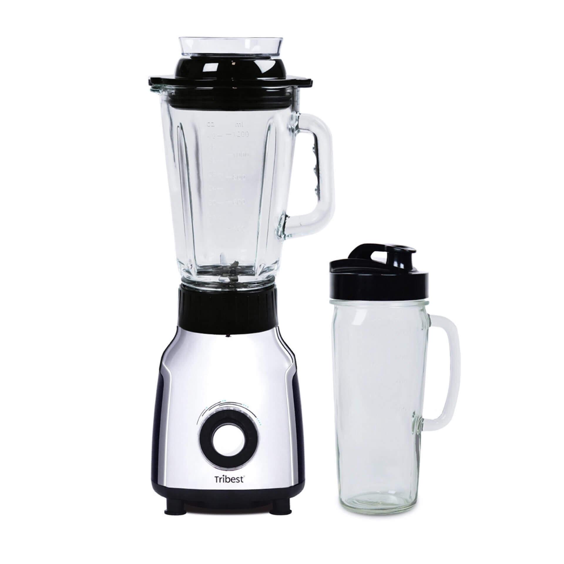 Personal Blender Glas - fuer kurze Zeit mit 1200 ml Glasbehaelter und Mixloeffel gratis