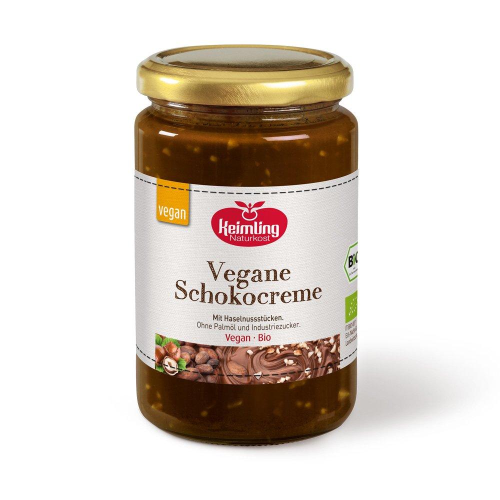 Vegane Schokocreme mit knackigen Nussstuecken