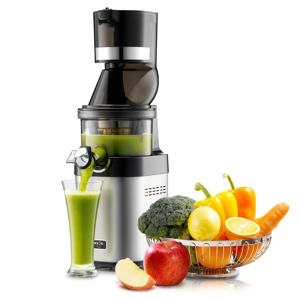Kuvings Whole Slow Juicer Chef CS600 mit Obst und Gemuese
