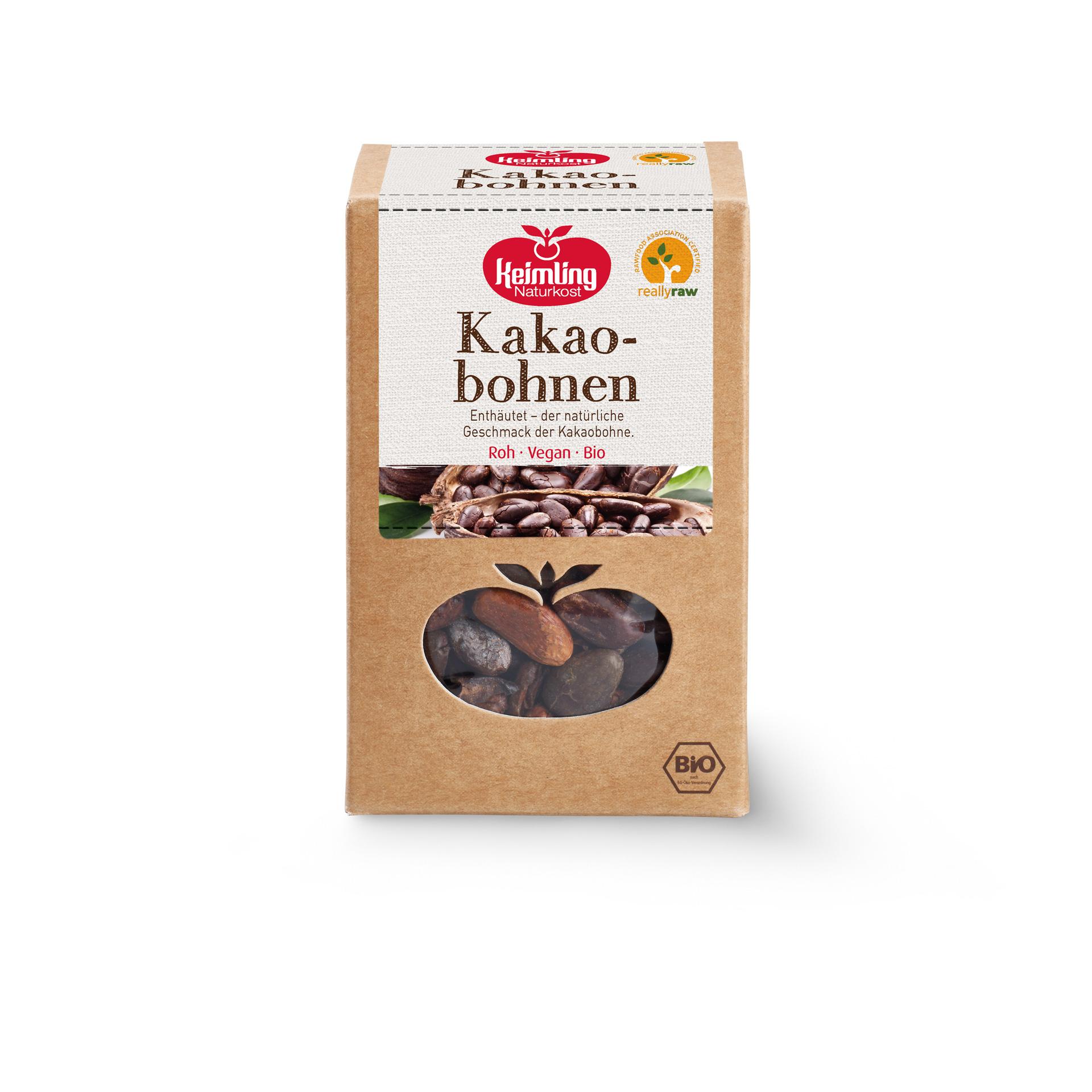 Enthäutete Kakaobohnen von Keimling NAturkost, really-raw zertifiziert