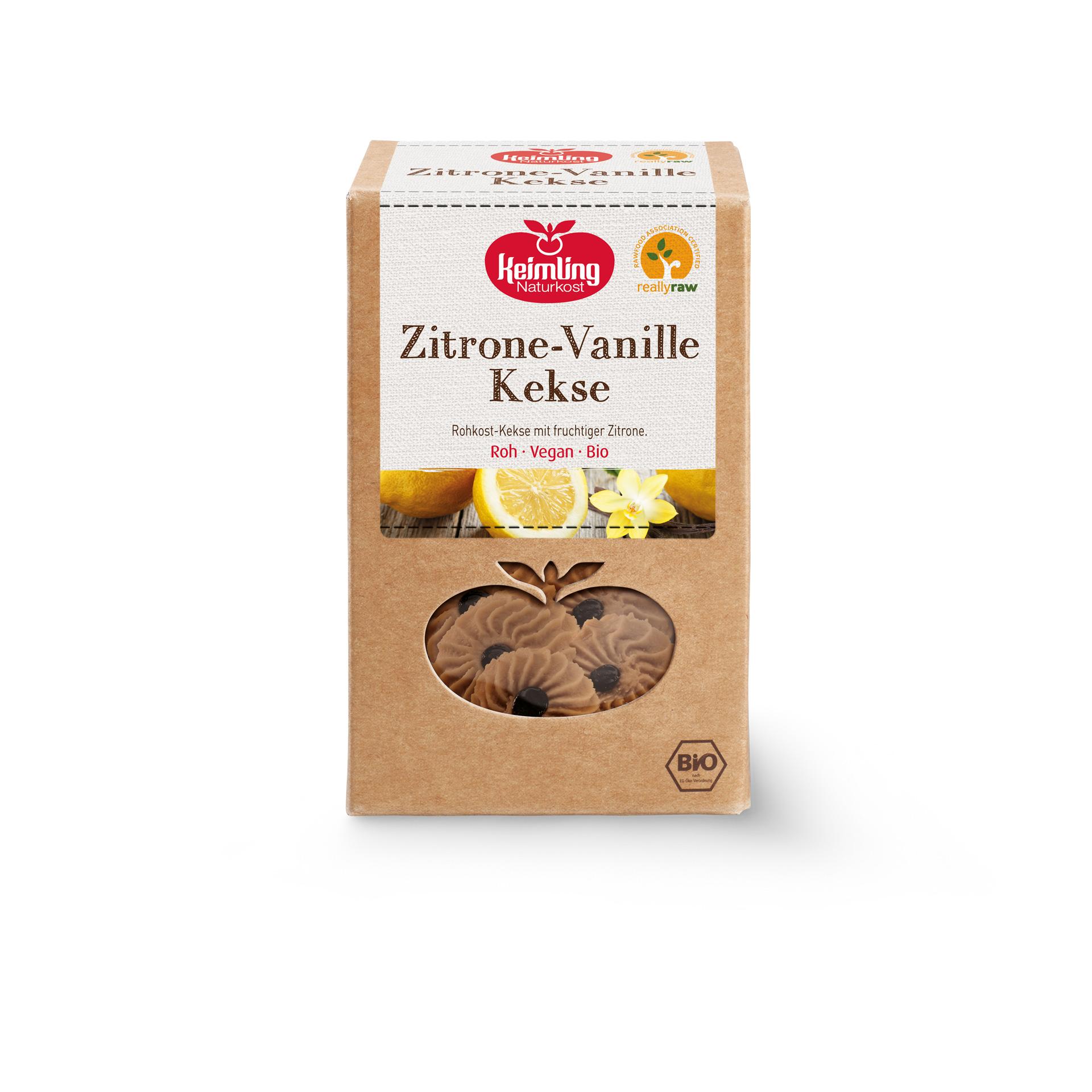 Zitrone-Vanille Kekse, bio 120 g