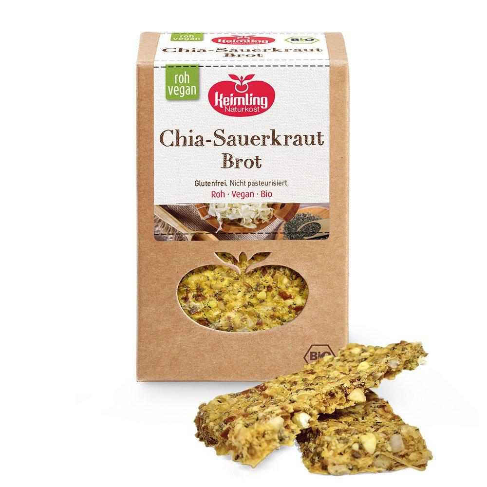 Chia-Sauerkraut Brot mit Verpackung
