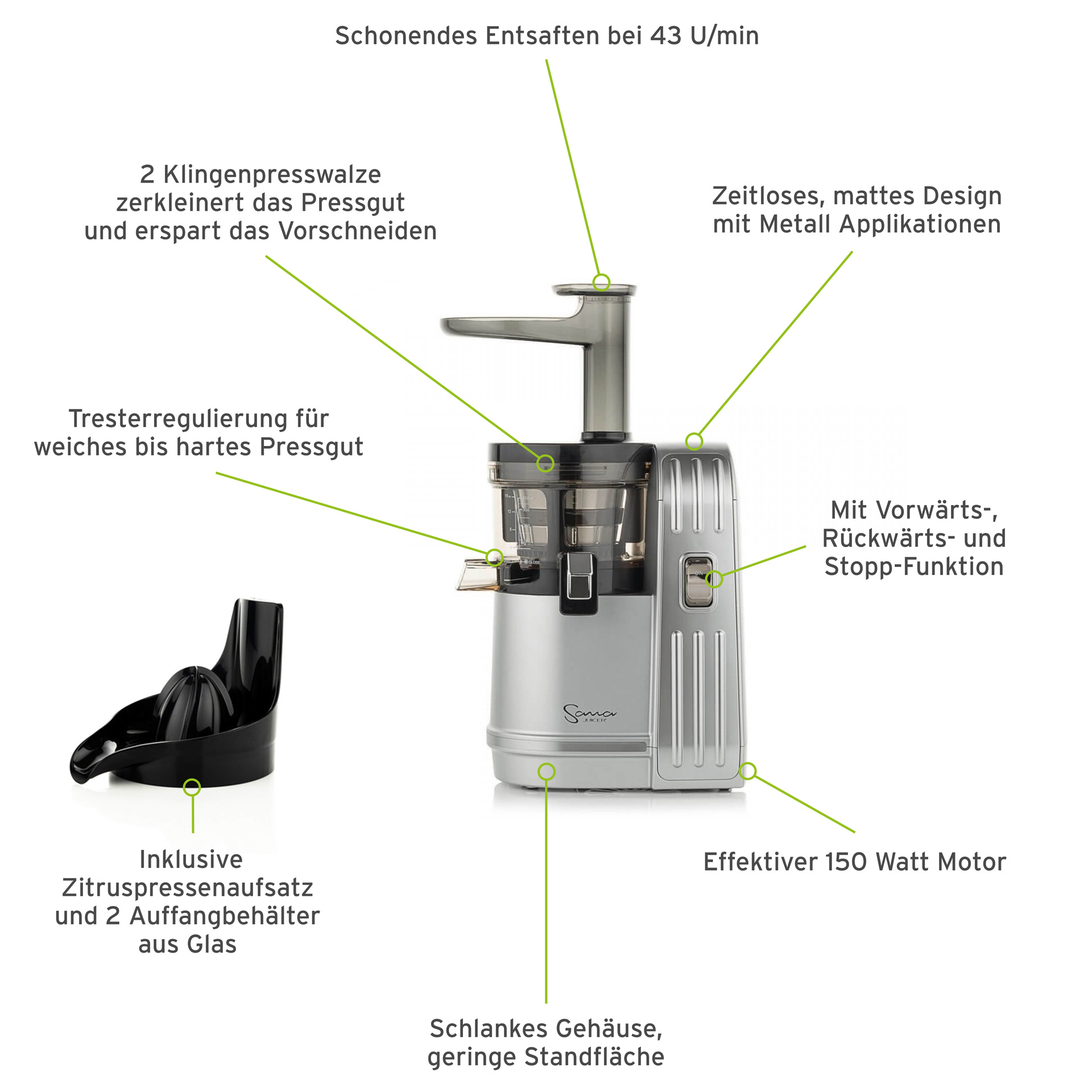 Sana EUJ-828 Vertikal-Entsafter