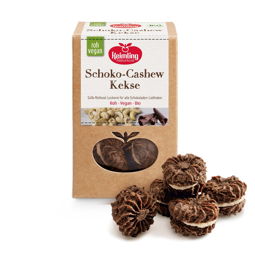 Schokolade-Cashew Kekse mit Verpackung