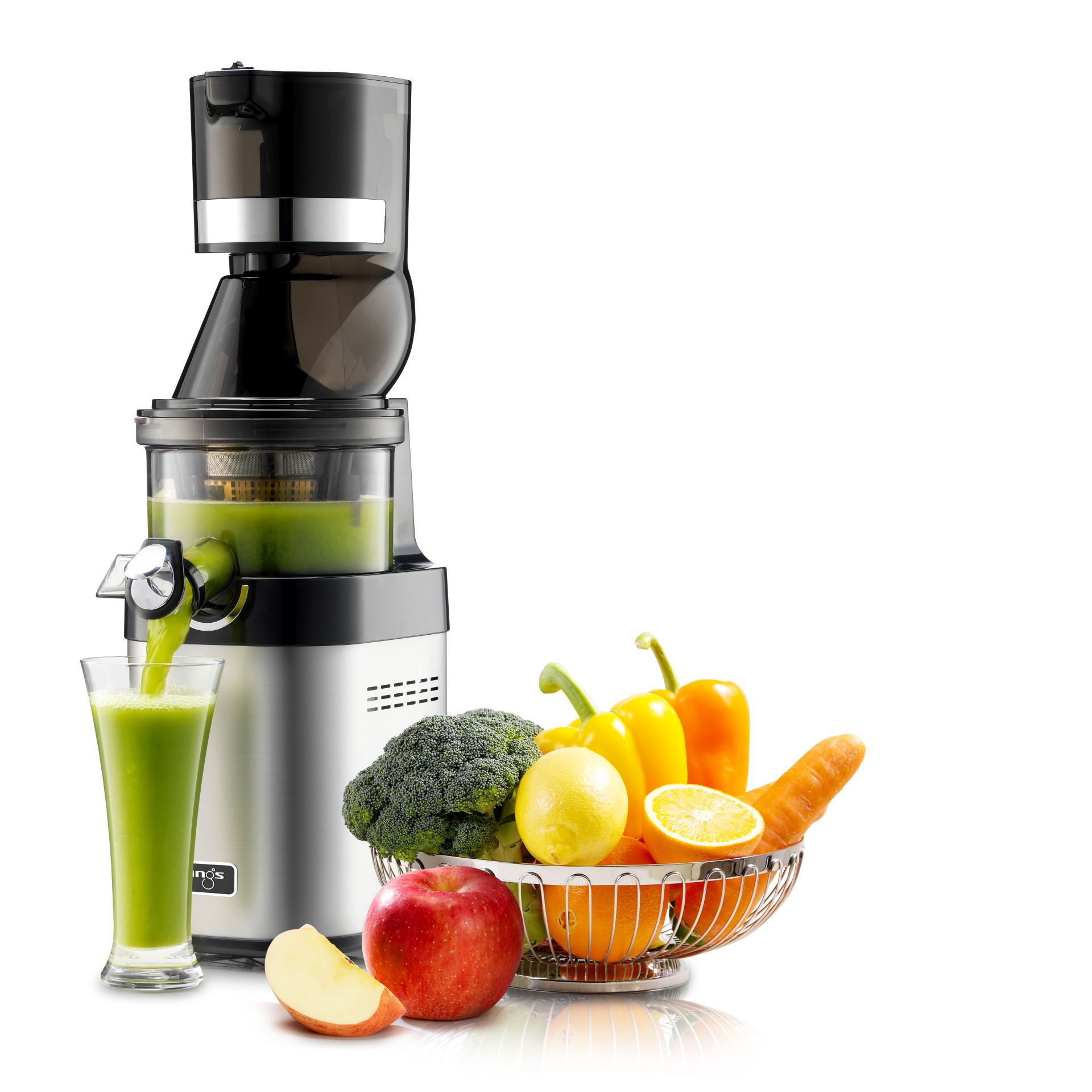 Kuvings Whole Slow Juicer Chef CS600 mit Obst