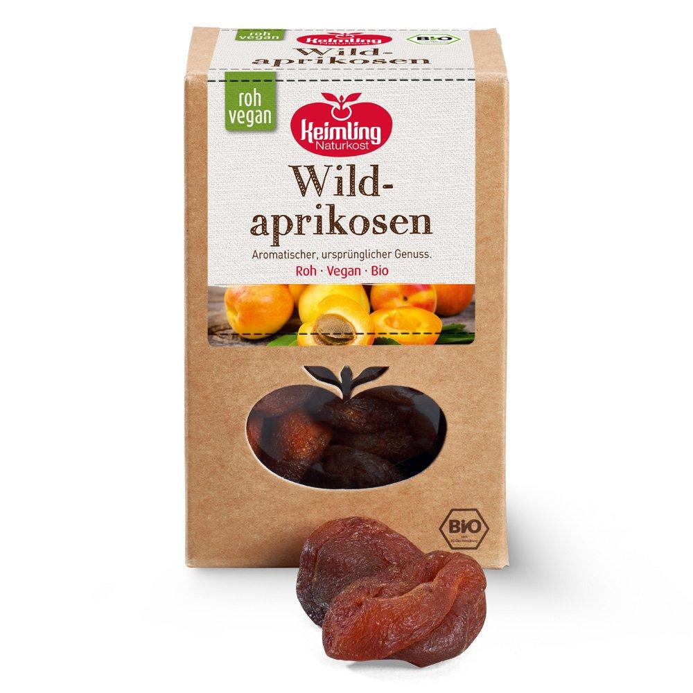 Wildaprikosen mit Verpackung