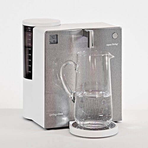 aqua living spring-time classic Wasserfilter Edelstahloptik