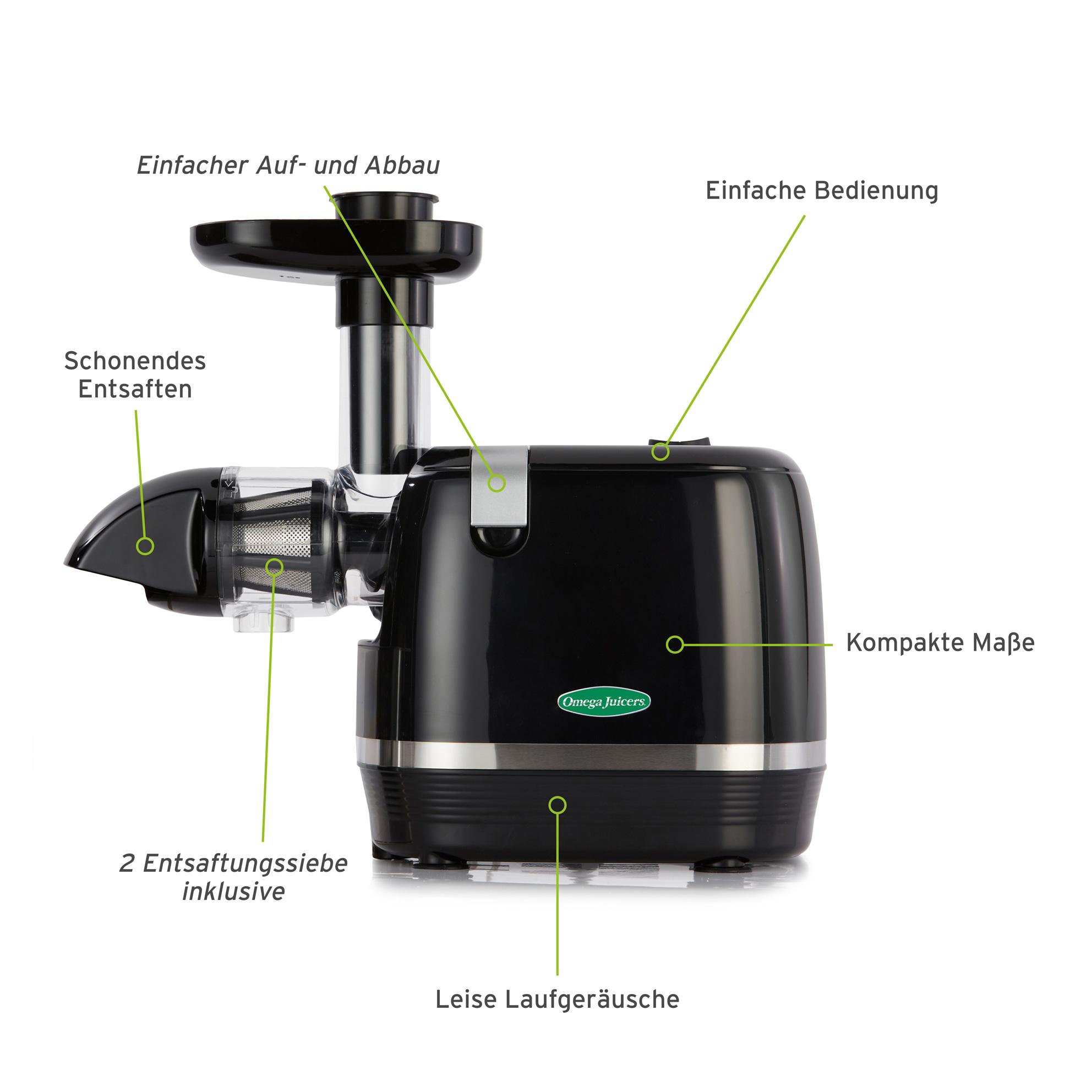 Omega Juicers H3000R-F schwarz