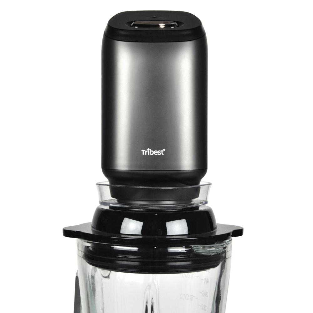 Personal Blender Glas Vakuum Behaelter mit aufgesetzter Pumpe