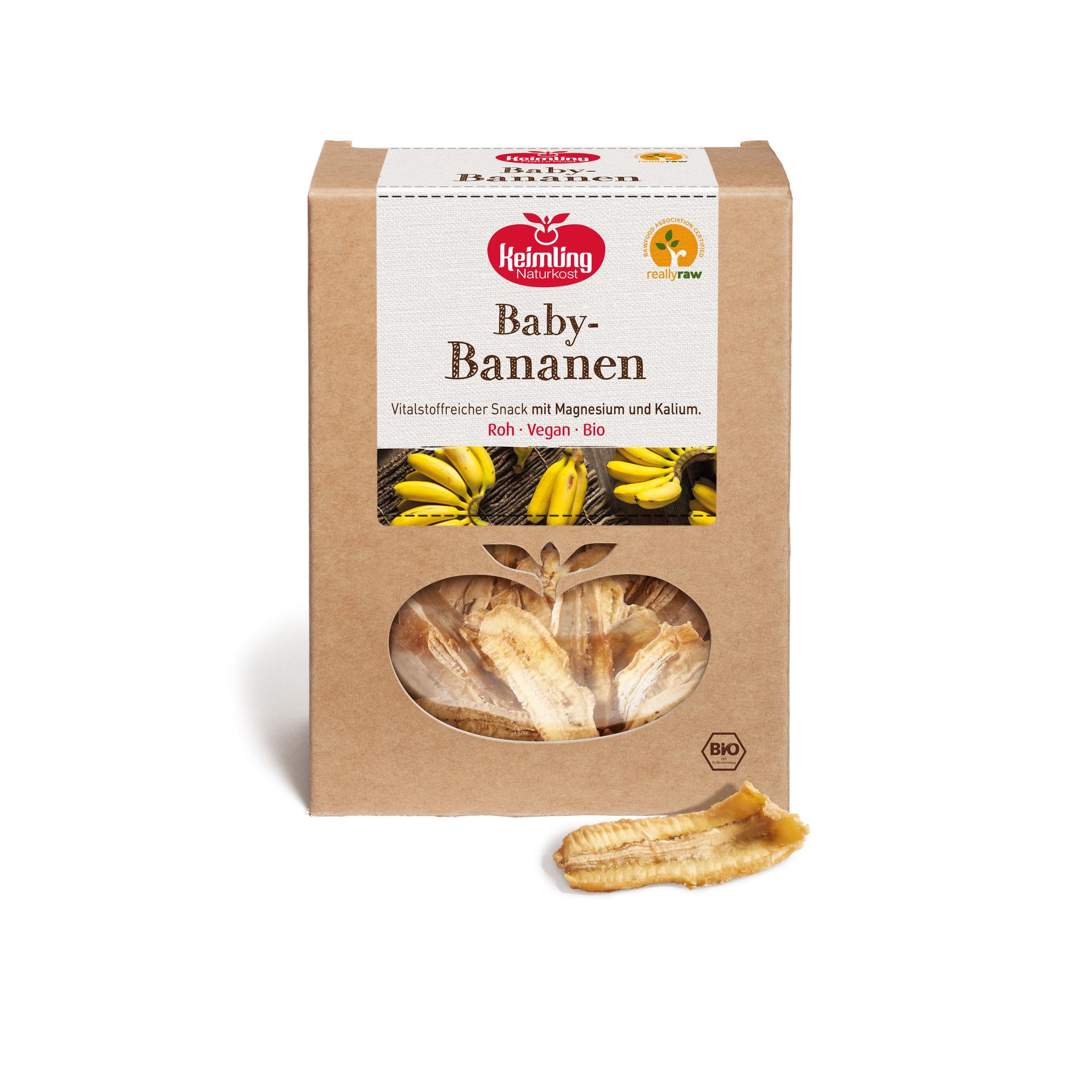 Baby-Bananen von Keimling Naturkost, really raw zertifiziert