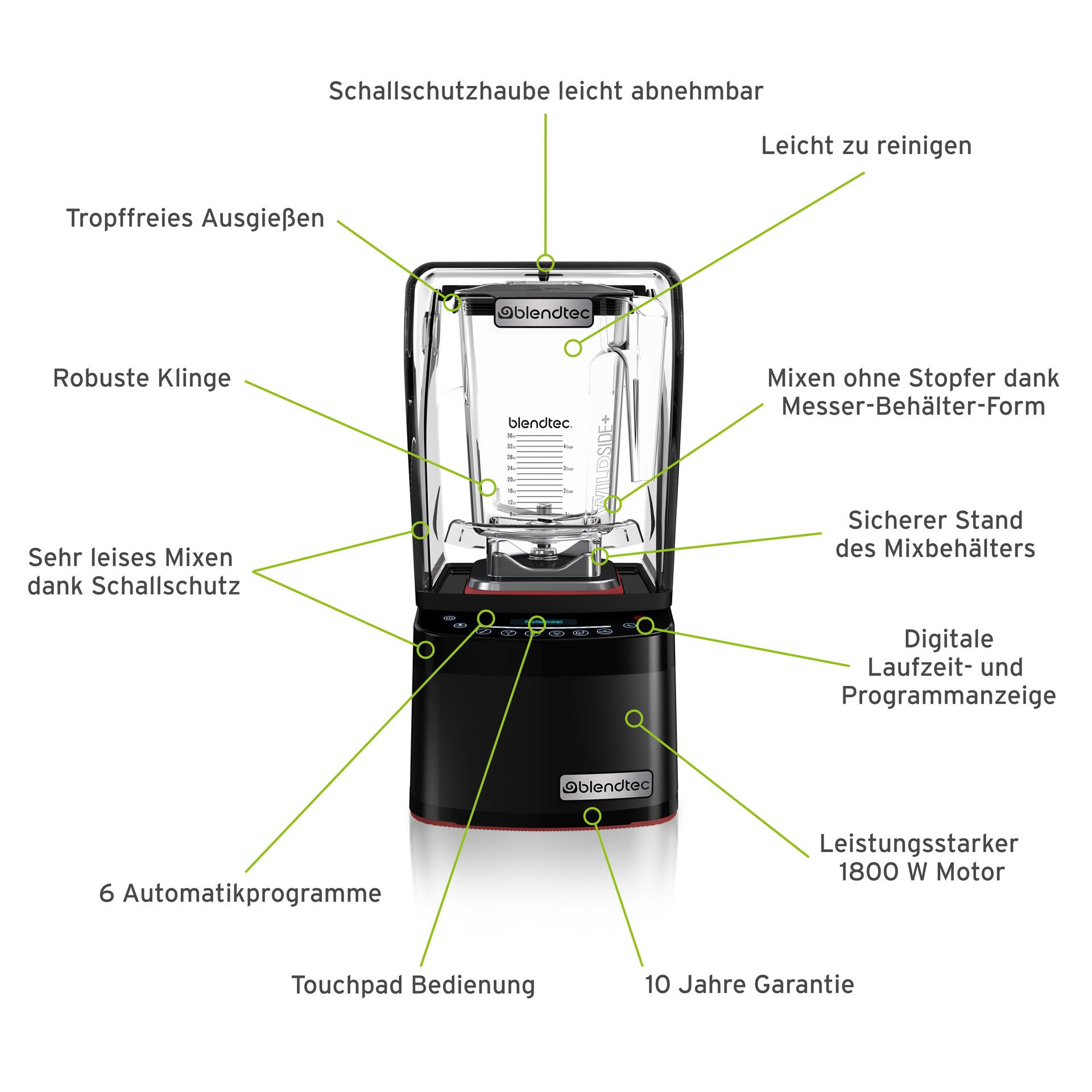Blendtec Professional 800 Mixer - alle Vorteile auf einen Blick