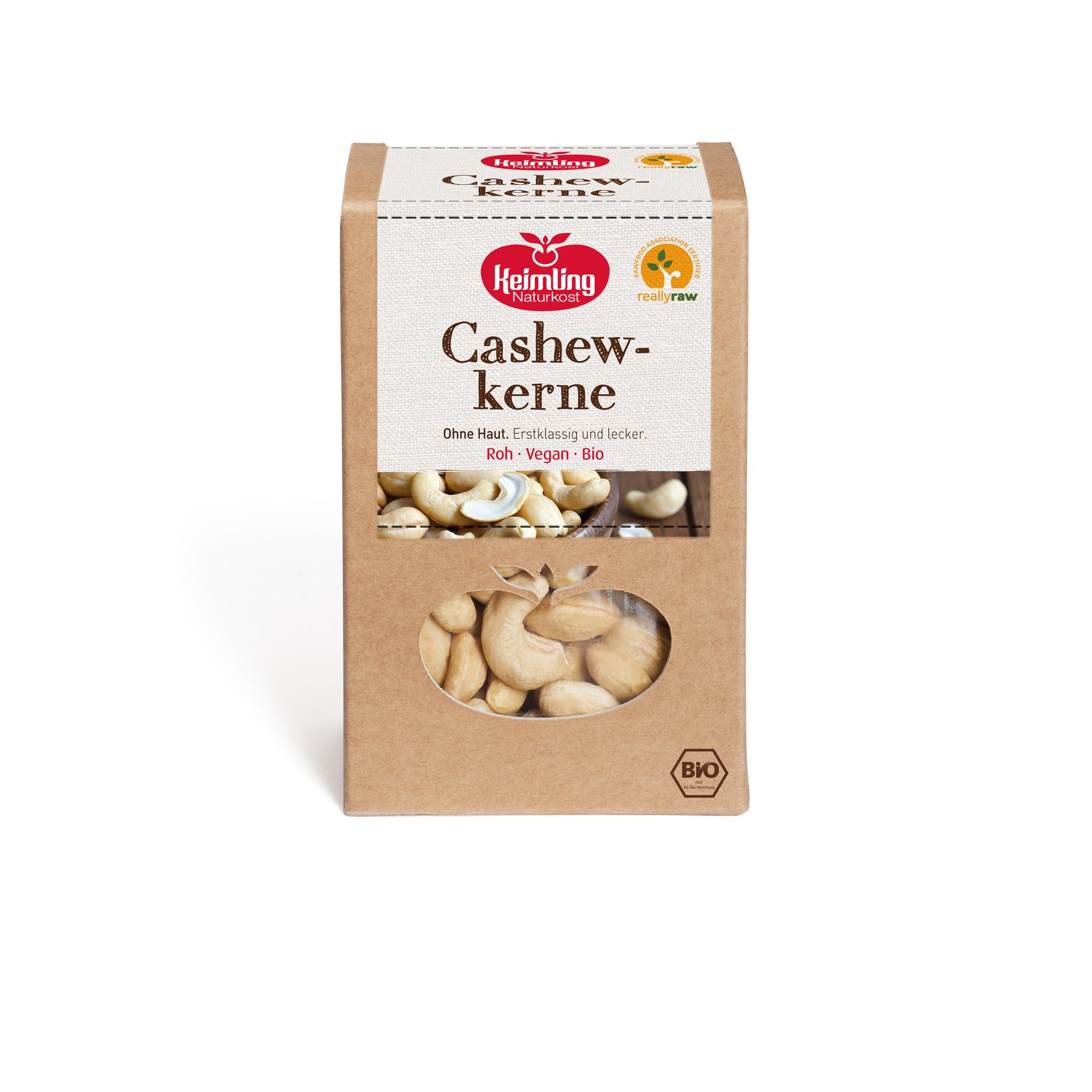 Cashewkerne von Keimling Naturkost, really raw zertifiziert