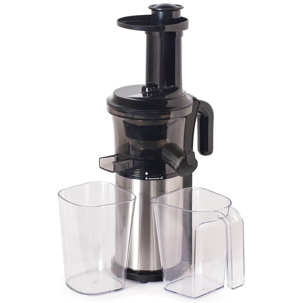 Tribest Shine Slow Juicer mit 2 Auffangbehaeltern