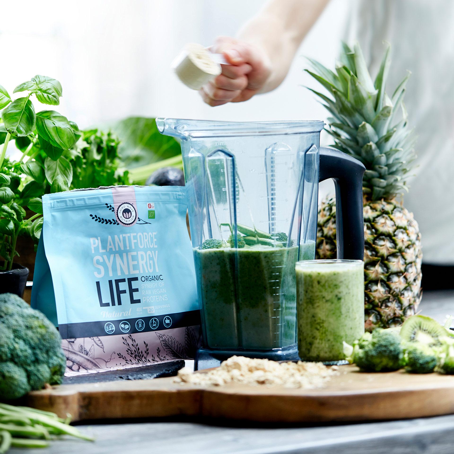 Proteinpulver von Plantforce Synergy Life vegan und in Bio-Qualität