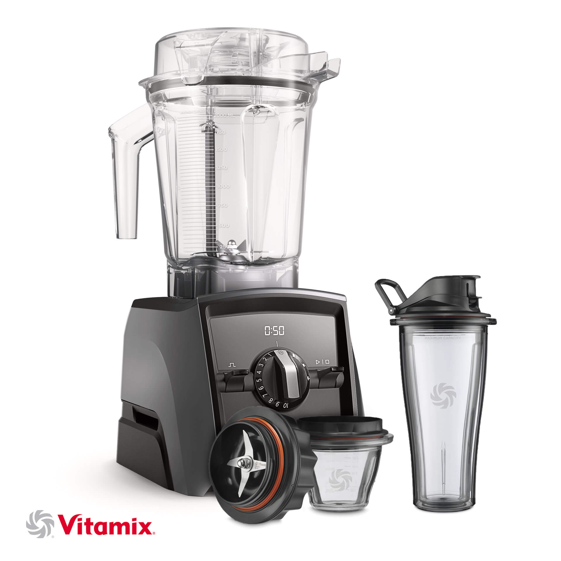 Vitamix A2500i silbergrau Starter-Kit