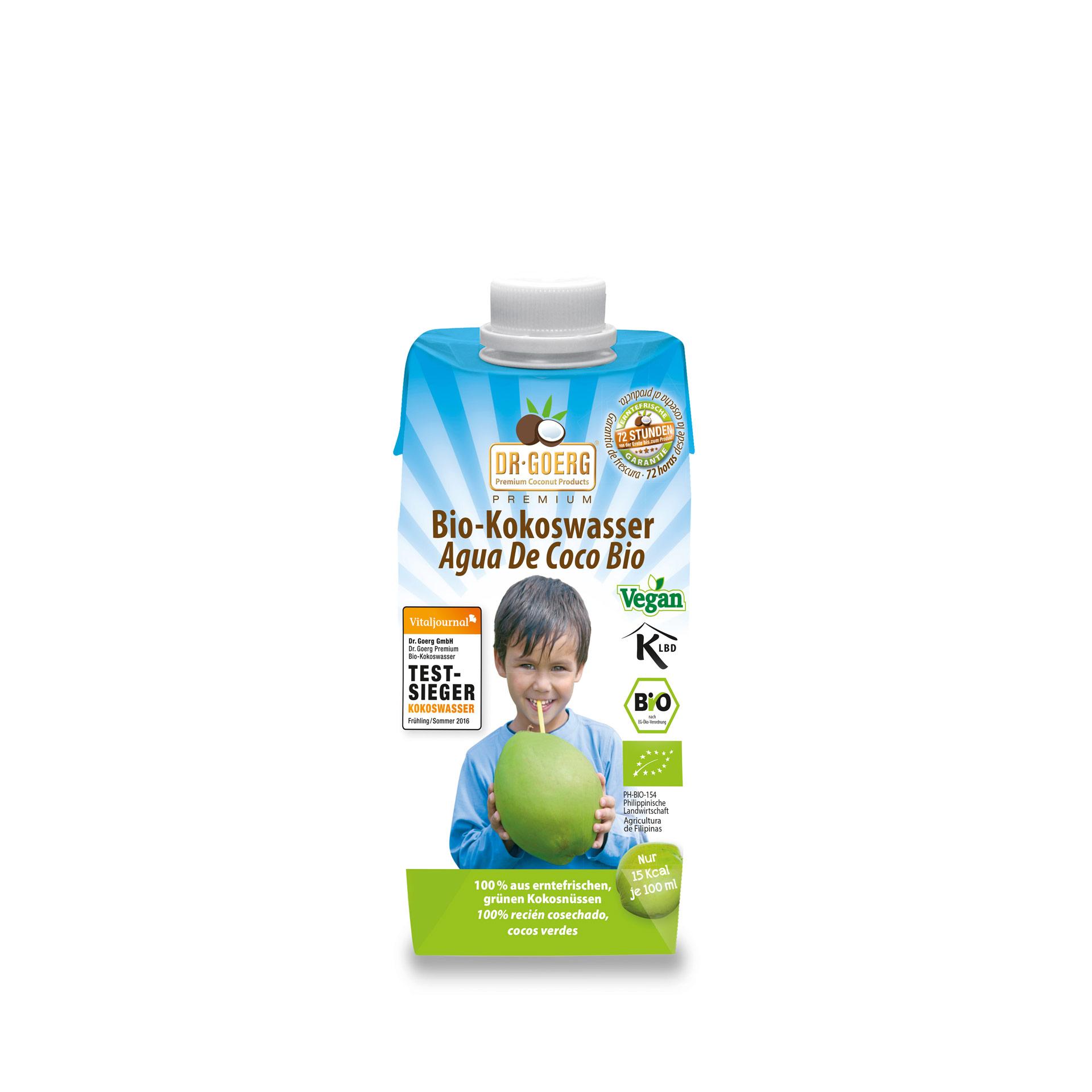 Kokoswasser, bio, 3er Pack, 330 ml