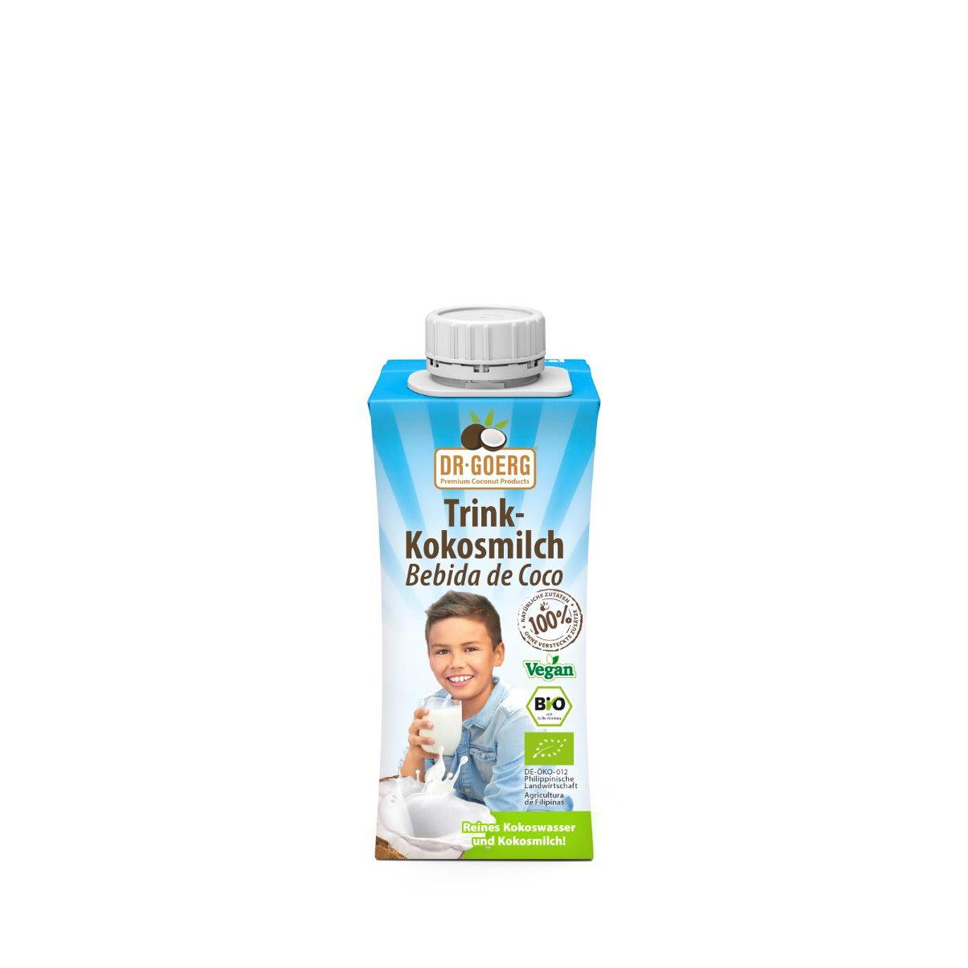Dr. Goerg Trinkkokosmilch 3er Pack, 200 ml